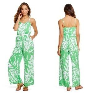 Lilly Pulitzer Tropical Print Green Jumpsuit